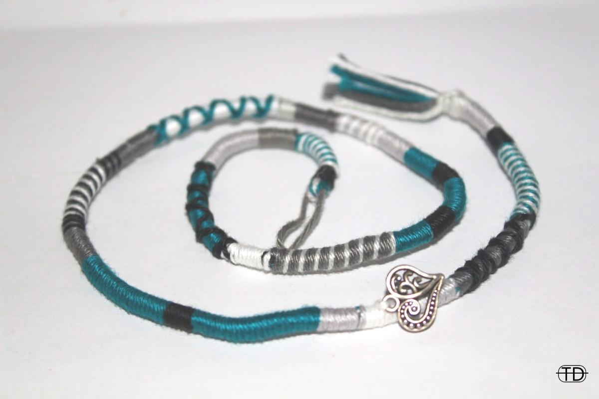 hairwrap turquoise/teal 50cm
